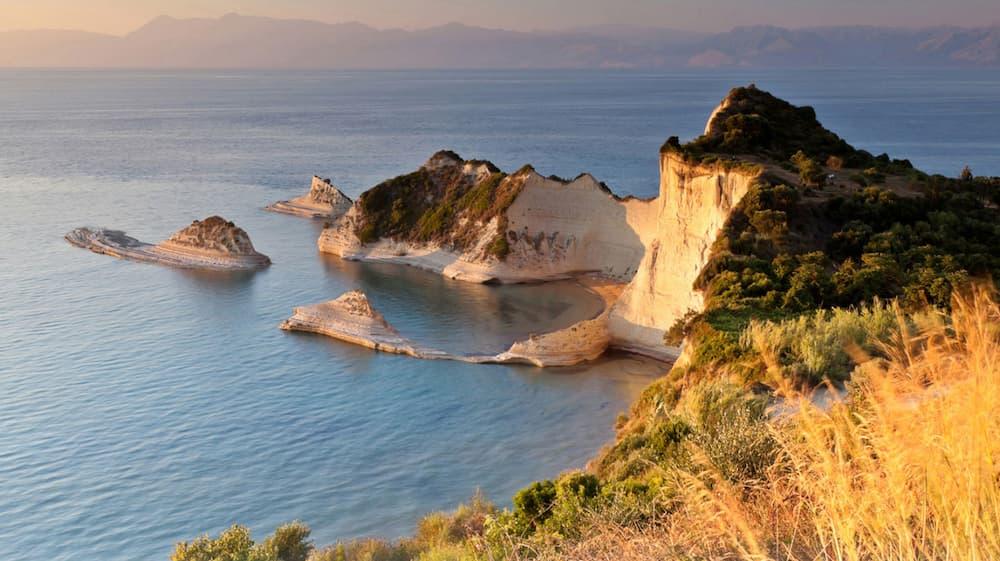 Cape Drastis on the northwest coast of Corfu
