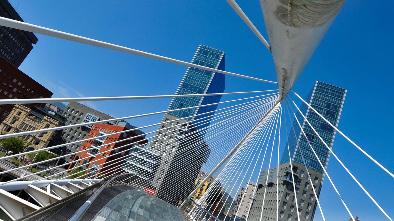 Campo Volantin Bridge in Bilbao
