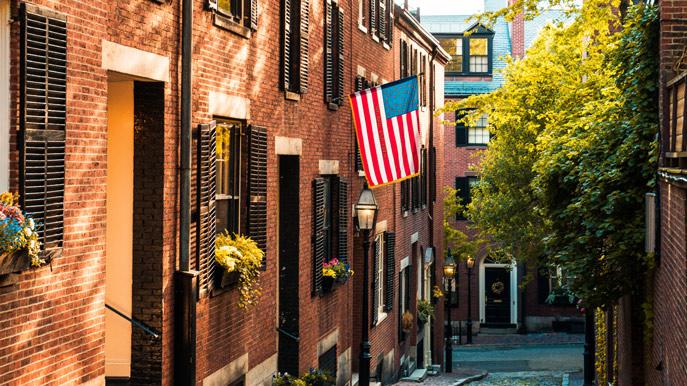 Back Bay neighbourhood in Boston