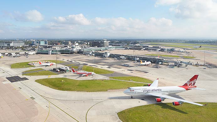 The airfield at Manchester Airport