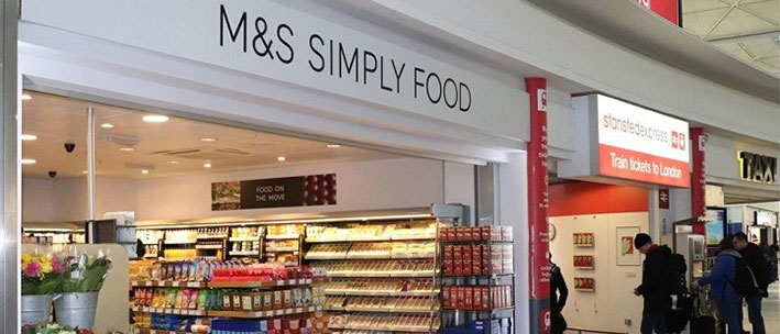 M&S Simply food shop at Stansted