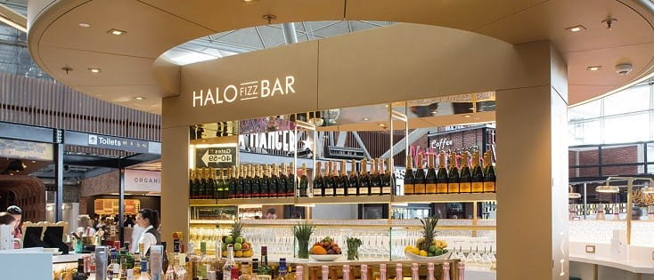Halo Fizz Bar at Stansted Airport