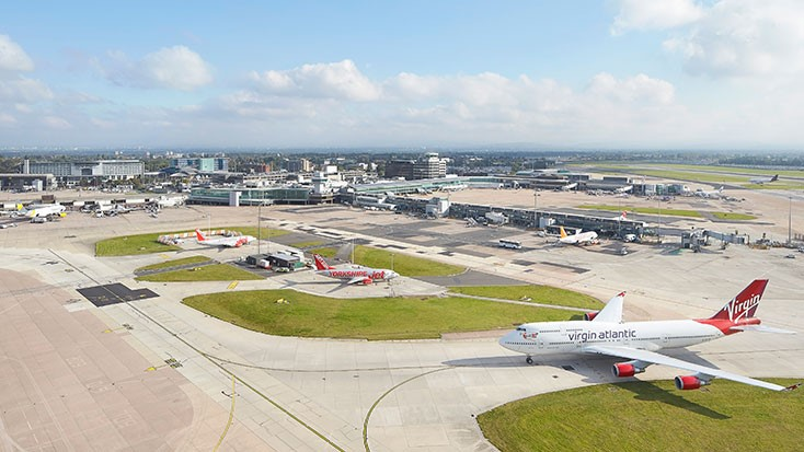 Manchester airport airfield
