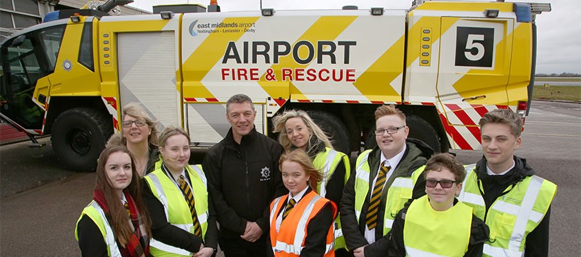 Fire and rescue at East Midlands Airport