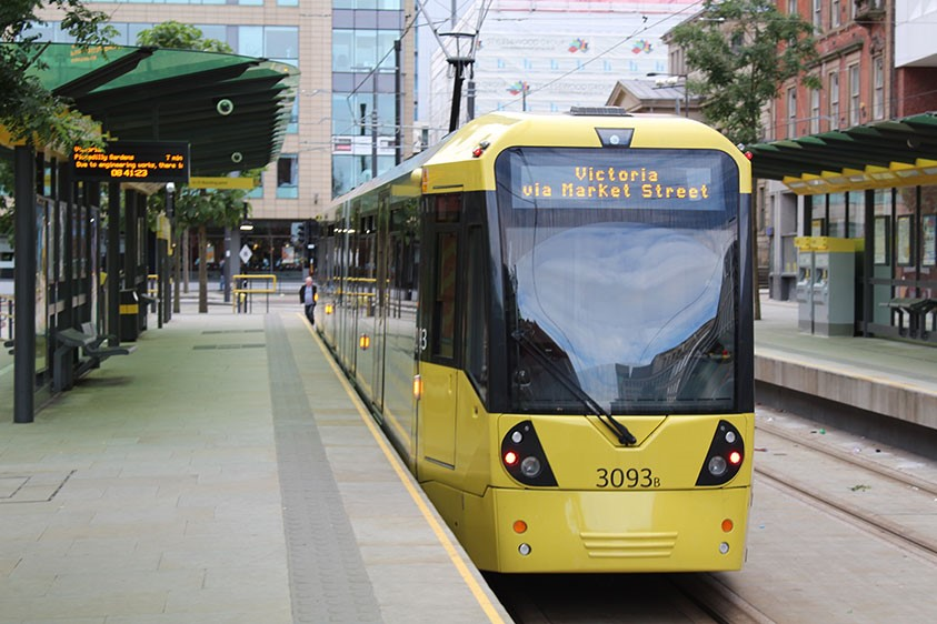 Metrolink to Manchester Airport